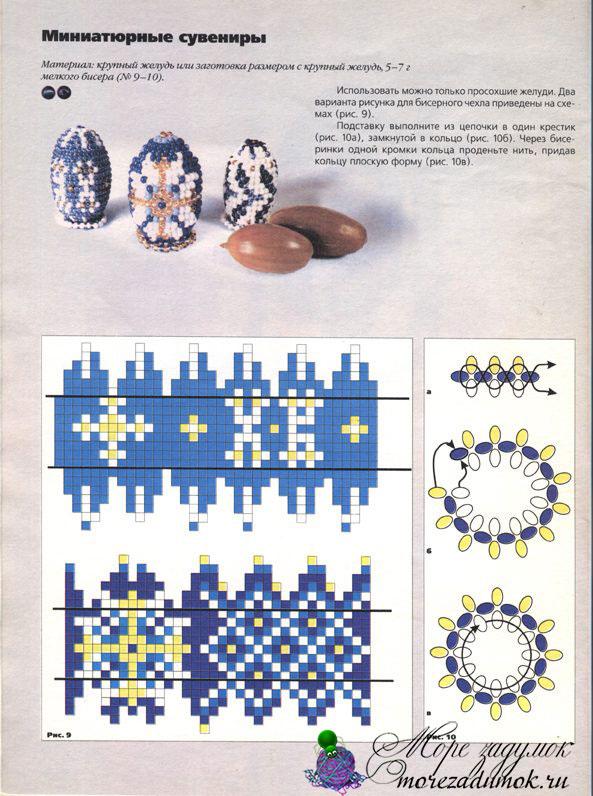 Схема пасхальных яиц из бисера