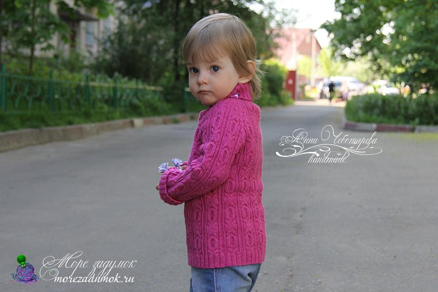 Узор свитера сбоку