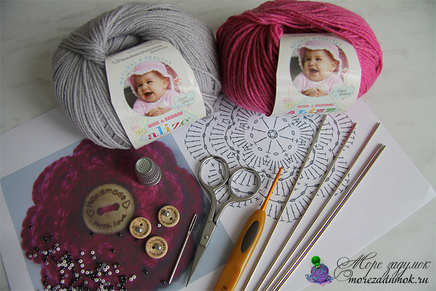 нитки для вязания свитера