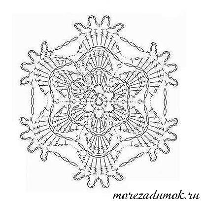 Цветок вязаный