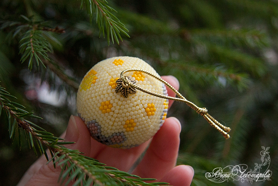 Ёлочная игрушка ручной работы