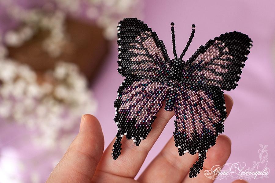 Брошь бабочка Парусник Улисс
