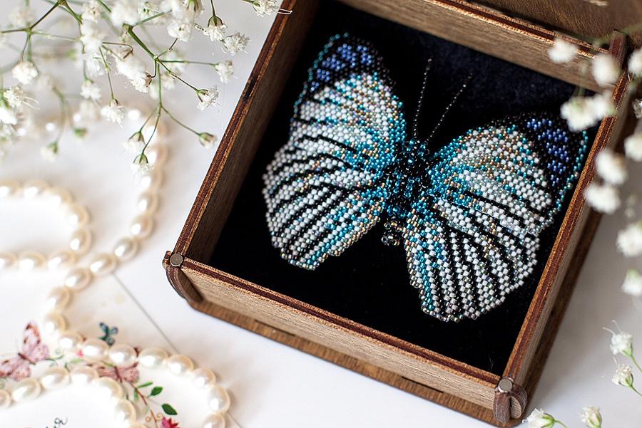 Бабочка бисероплетение